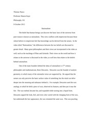 socrates relevance today essay thomas nasca professor sharon  2 pages rationalism essay