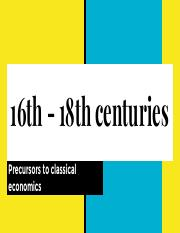 2. Mercantilism, Mandeville and physiocrats