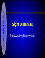 3-Stopping Sight Distance