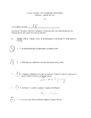 Exam One Solution