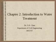 Ch2 overview of wate treatment