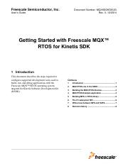 Getting Started with Freescale MQX RTOS for Kinetis SDK.pdf