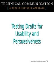 Testing Draft for Usefulness and Persuasiveness(1).ppt