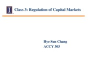 Session  3 - Class Notes - Regulation on Capital Markets
