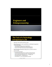 Engineers and Entrepreneurship