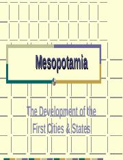 Chapter 3 P 2 Mesopotamia The First Cities.pps