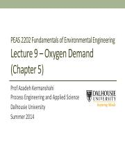 Lecture -Week 9-Oxygen demand