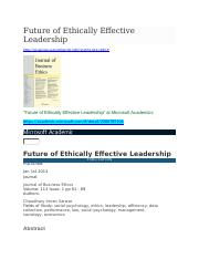 ETHICS-FEEL-at Microsoft Academics.docx