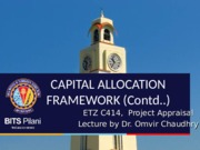 L02 - Capital Allocation (Contd.) and Generation & Screening of Project Ideas