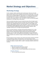 Market Strategy and Objectives