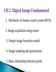 Chapter02_Digital Image Fundamentals