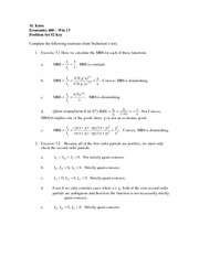 Econ 400 Win 13 Problem Set 2 Key