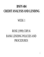 BFM.. CREDIT ANALYSIS AND LENDING.ppt