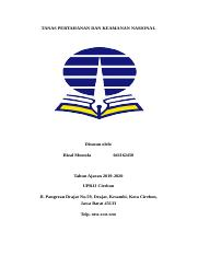 Makalah Pkn Ut Doc Tanas Pertahanan Dan Keamanan Nasional Disusun Oleh Rizal Mustofa 041162458 Tahun Ajaran 2019 2020 Upbjj Cirebon Jl Pangeran Drajat Course Hero