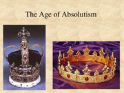 The Age of Absolutism Spain and Russia