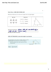 Sine and Cosine Law