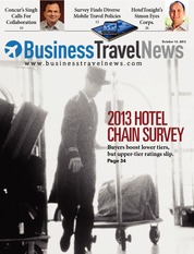 Business Travel News 2013 Hotel Chain Survey