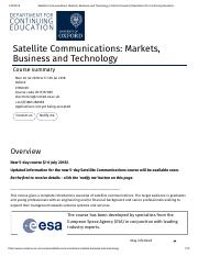 Satellite Communications_ Markets, Business and Technology _ Oxford University Department for Contin