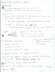 Leture Notes - Gauss's Law