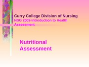 Lecture- Nutrition 9-1.09