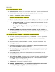 EBUSINESS notes