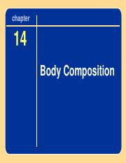 Ch 15 Body Composition