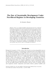 haque neoliberalism and sustainability