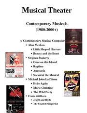 Intro to theater Musical Theater  comtemp11