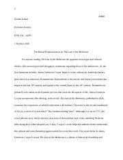 Last of the Mohicans essay.docx