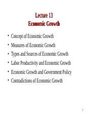 Lecture 13. Economic Growth.ppt