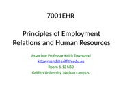 Week 1 -Introduction to the course 7001EHR SEM 2 2013(2)