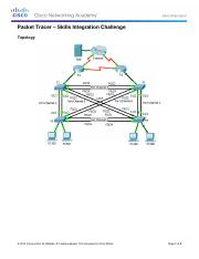 3.3.1.2 Packet Tracer - Skills Integration Challenge Instructions