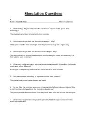 Copy of Simulation Questions