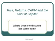 4 Risk, Returns, CAPM and the Cost of Capital
