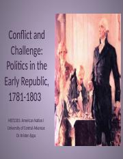 HIST2301, Politics in the Early Republic (2015 version)