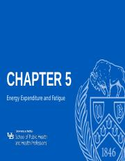 Chapter 5 - Energy Expenditure and Fatigue .pptx