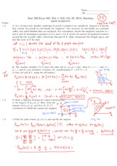STATS 509 Fall 2014 Test 1 Solutions