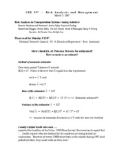 CEE597 Handout 20 Estimation of Lambda