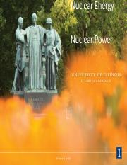 Lecture 17 Nuclear 2 power generation