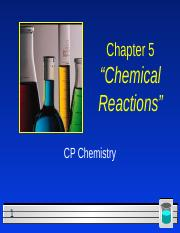 CP Chapter 5 Chemical equations and reactions