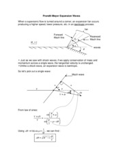 Aerodynamics Notes Expansion Waves