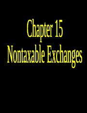 wnk2007-Ch15 Nontaxable Exchanges