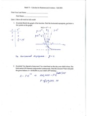 math71 quiz short