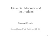 Lecture 22 - Mutual funds