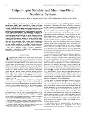 Output-Input Stability and Minimum-Phase Nonlinear Systes.pdf