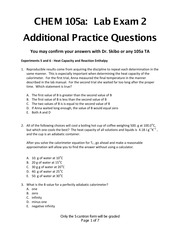 Practice Questions 105a Lab Exam 2