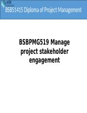 BSBPMG519 Manage Project Stakeholder Engagement.pptx