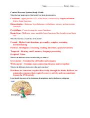 CNS Study Guide Key.pdf