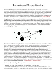 Galaxies and the Universe - Interactions and Mergers