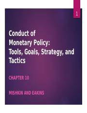Chapter 10 Monetary Policy (1)